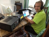 <h5>David during CQ WW RTTY</h5>